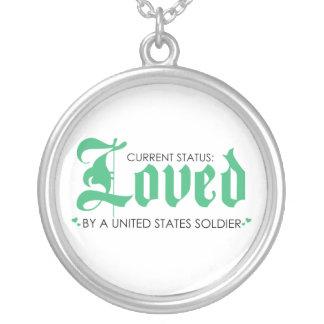 Amado por un soldado de los E.E.U.U. Collar Plateado