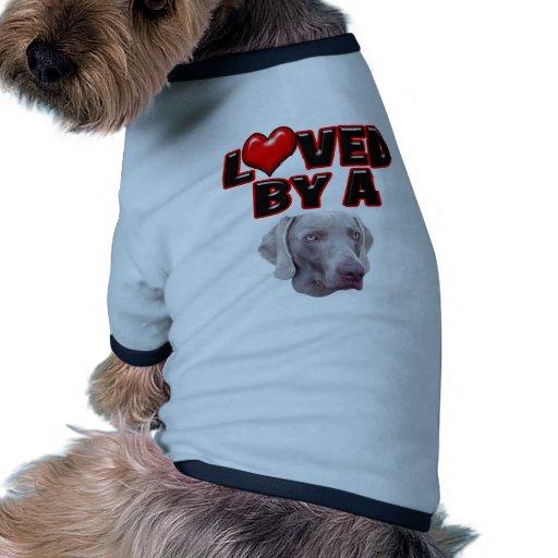Amado por un Weimer Ropa De Mascota