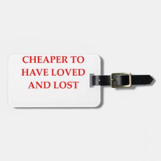 amado y perdido etiquetas de equipaje