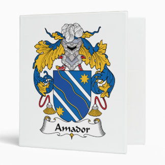 Amador Family Crest 3 Ring Binder