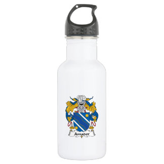 Amador Family Crest Stainless Steel Water Bottle