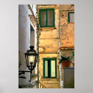 Amalfi backstreets poster