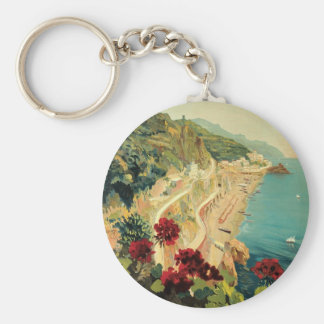 Amalfi Basic Round Button Keychain