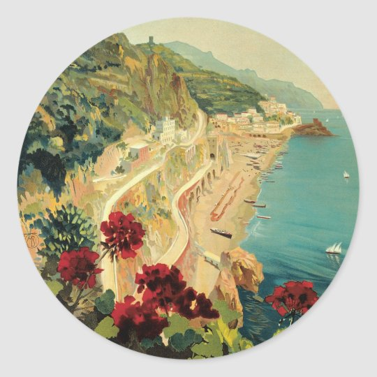 Amalfi Classic Round Sticker