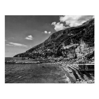Amalfi Coast Black And Photography Postcard