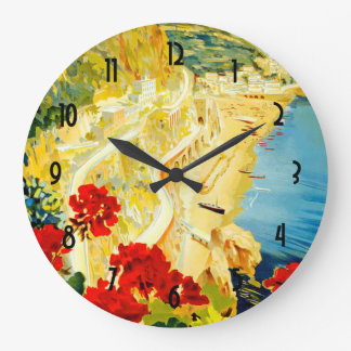 Amalfi Coast, Italy Large Clock