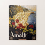 """Amalfi Coast Italy Puzzle<br><div class=""""desc"""">This puzzle is an ideal gift for puzzle lovers and those who like Italy. The vintage picture shows the picturesque Amalfi Coast a most beautiful Italian region on the Mediterranean Ocean.</div>"""