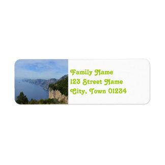 Amalfi Coast Return Address Label