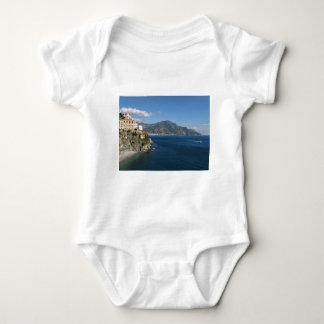 Amalfi Coast view toward Majori Baby Bodysuit