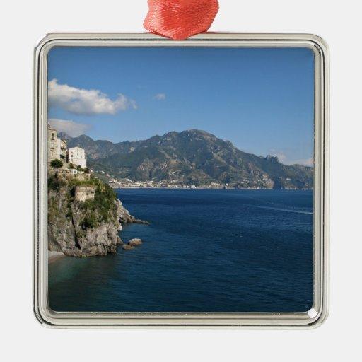 Amalfi Coast view toward Majori Christmas Ornaments