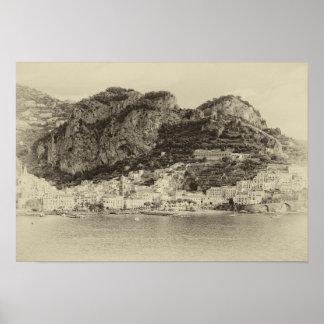 Amalfi Coast Vintage Poster