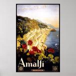 Amalfi Coastline Italian Travel Poster 1910 - 1920