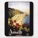 Amalfi Coastline Italian Travel Poster 1910 - 1920 Mouse Pad