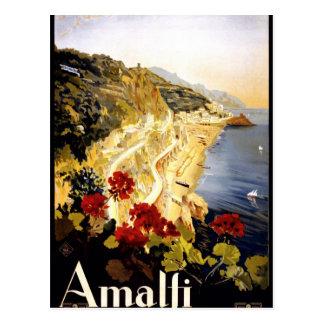 Amalfi Coastline Italian Travel Poster 1910 - 1920 Postcard