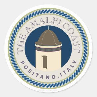 Amalfi Coastr-Sticker Classic Round Sticker