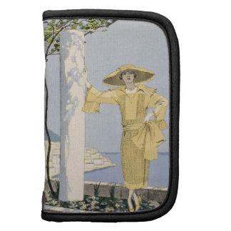 Amalfi, ejemplo de una mujer en un vestido amarill organizadores