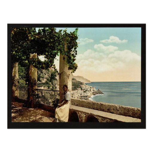 Amalfi, from the Capuccini, Naples, Italy classic Postcard