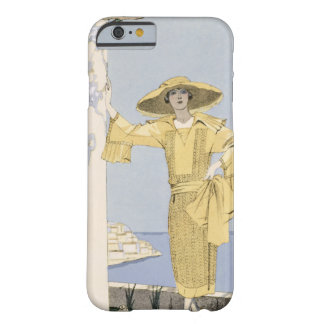 Amalfi, illustration of a woman in a yellow dress barely there iPhone 6 case