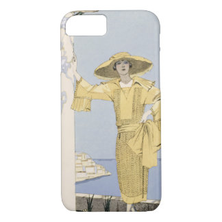 Amalfi, illustration of a woman in a yellow dress iPhone 7 case