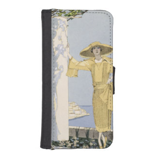 Amalfi, illustration of a woman in a yellow dress iPhone 5 wallet
