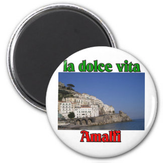 Amalfi Italia Imán Redondo 5 Cm