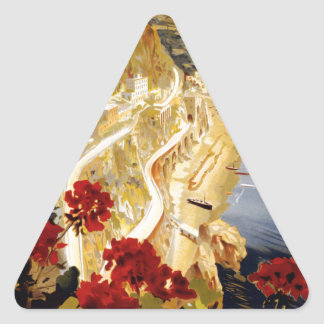 Amalfi, Italia Triangle Sticker