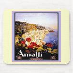 Amalfi ~ Italia ~ Vintage Italian Travel Mouse Mat