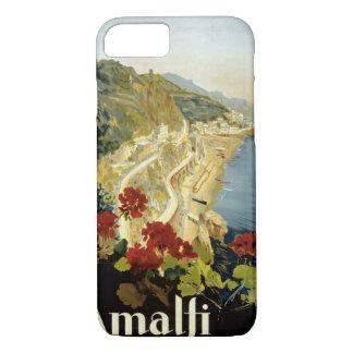 Amalfi Italy Italia Vintage Poster Restored iPhone 7 Case