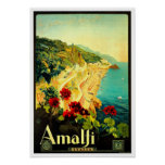 Amalfi Italy Italia VintageTravel Advertisement Poster