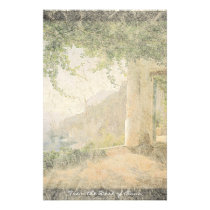 Amalfi Italy Ocean Beach Balcony Stationery