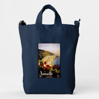 Amalfi Italy vintage travel duck bag