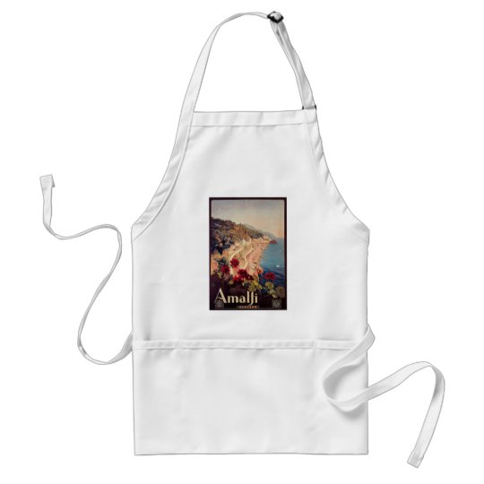Amalfi, Italy  Vintage Travel Poster Adult Apron