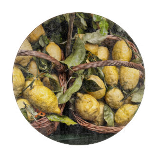 Amalfi Lemon Basket Cutting Board