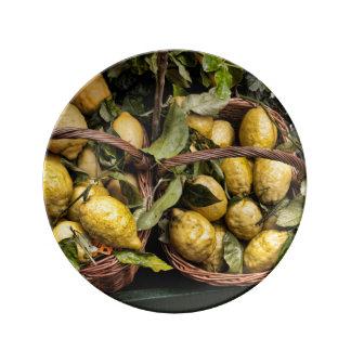 Amalfi Lemon Basket Dinner Plate
