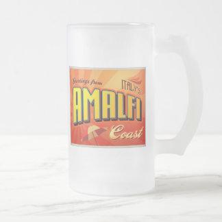 AMALFI 16 OZ FROSTED GLASS BEER MUG