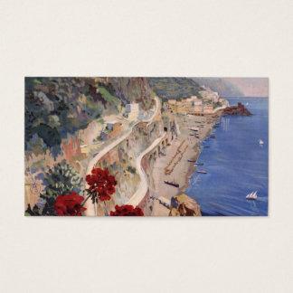 Amalfi Napoli Italy Vintage Italian Travel Poster Business Card