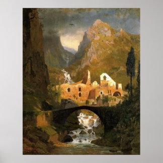 Amalfi's Valle dei Mulini Campania Italy Poster