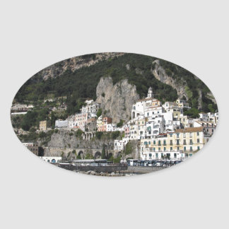 Amalfi, Sea View Oval Sticker