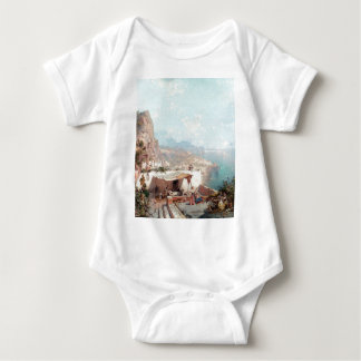 Amalfi, The Gulf Of Salerno by Franz Richard Baby Bodysuit