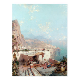 Amalfi, The Gulf Of Salerno by Franz Richard Postcard