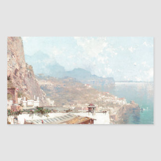 Amalfi, The Gulf Of Salerno by Franz Richard Rectangular Sticker