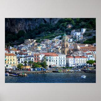Amalfi Village Poster