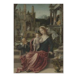 """Amamantamiento de Maria de Jesús y de la madre Invitación 5"""" X 7"""""""
