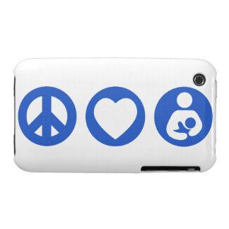 Amamantamiento del amor de la paz funda para iPhone 3