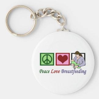 Amamantamiento del amor de la paz llavero