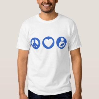 Amamantamiento del amor de la paz remeras