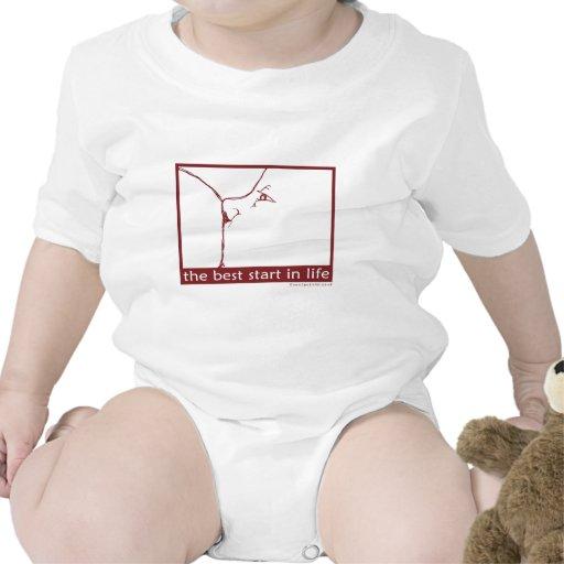 Amamantamiento - el mejor comienzo de la vida traje de bebé