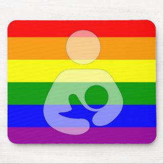 Amamantamiento/oficio de enfermera del orgullo gay alfombrillas de raton