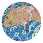 もう一つの日本アート carps waves fish billow swell breaker japan japanese lady girl beauty asia asian oriental 日本 日本人 鯉 波 女性 女子 女の子 大波 pop arts 和風 イラスト ポップ