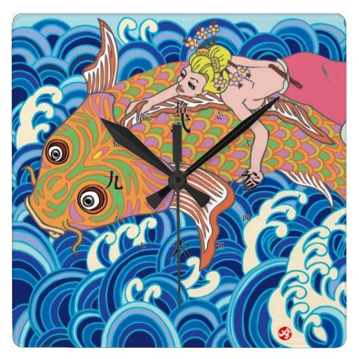 Amami a girl. square wall clock